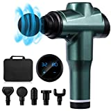 Massage Gun Deep Tissue Percussion Muscle Massager for Pain Relief, Handheld Cordless Electric Body Massager, Sports Drill Portable, 32 Speed Level Helps Relieve Muscle Soreness and Stiffness
