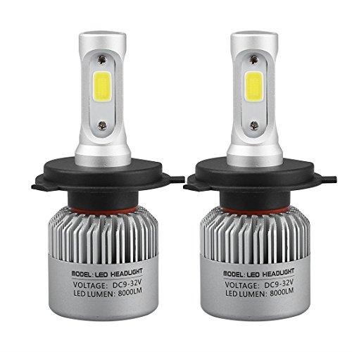 Audi 80 Cooling - TBAO H4 LED Car Headlight Fog Light 8000lm Bridgelux COB Chips, Headlight Conversion Kits with Headlight Bulbs Car Light