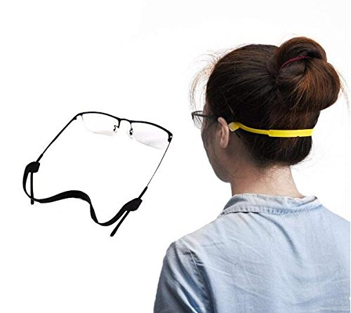 5PCS Soft Silicone Eyeglass Strap Eyewear Retainers Sports Anti-Slip Elastic Glasses Sunglass Cord Holder Safety Glasses Neck Cord Lanyard String Chain for Outdoor Activities Color Random