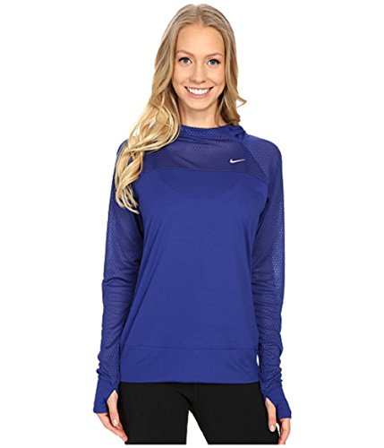 Nike Run Fast Hoody woman blue small (Nike Premier Fleece Hoody)