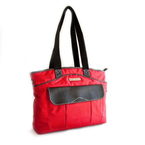 Clark & Mayfield Newport Laptop Handbag Bag Tote 17.3'' (Red) by Clark & Mayfield