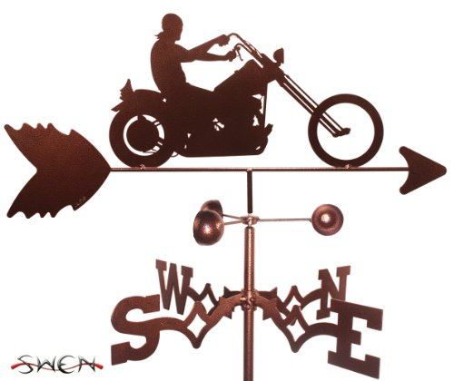 - Hand Made EASY RIDER MOTORCYCLE GARDEN Stake Weathervane ~NEW~