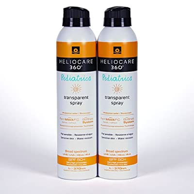2x HELIOCARE 360 PEDIATRICS TRANSPARENT SPRAY SPF50+ 200ml SUNSCREEN TOTAL 400ml Skin Gift