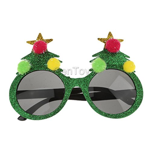 Female Cyclops Costumes (VIPASNAM-Adults Christmas Tree Sunglasses Glasses Xmas Gift Costume Party Fancy Dress)
