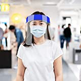 5 PCS Safety Face Shield Full Protection Cap Wide
