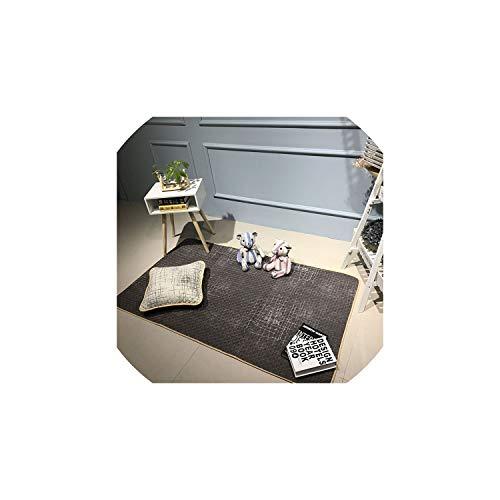 Cotton Nordic Style Printing Door Carpet Kitchen Mats Non-Slip Floor Bath Rectangular Floor Rug for Living Room for 16 Sizes, 110X210Cm