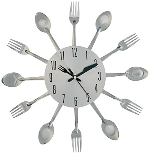 Uniquebella Metal Kitchen Cutlery Utensil Wall Clock Spoon: Amazon.com: Kole OB951 Clock Kitchen Cutlery Wall Clock