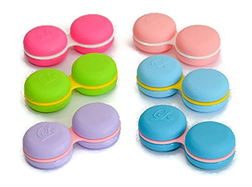 Sports Vision's New Macaroon Cute Contact Lens Case 12 Pcs