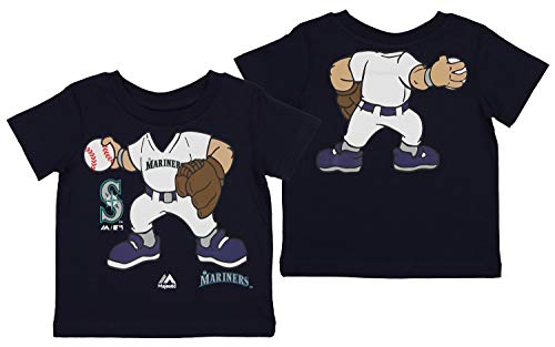 Outerstuff MLB Toddlers Seattle Mariners Pint Size Pitcher Tee, 3T
