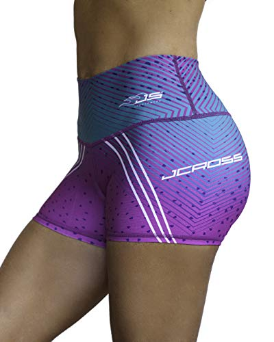 (Jcross Colombian Shorts High Waist Many Models for Women Compression Tummy Control Micro Fiber (Short 345))