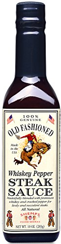 Old Fashioned Whiskey Pepper Steak Sauce, 10 oz (6 Pack) by Old Fashioned Products