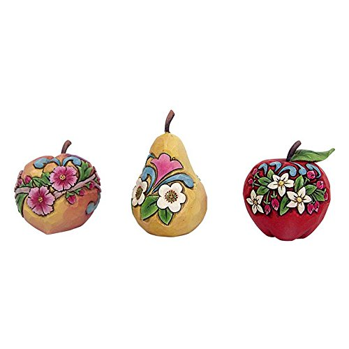 Jim Shore HWC Mini Apple Pear and Peach Fruit Figurine Set of 3 4057696 New