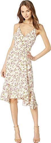 WAYF Women's Trista Cami Ruffle Hem Dress Ivory Ditsy Floral Medium