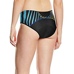Baleaf Women's 3D Padded Bicycle Cycling Underwear Stripe Style Shorts, Strip, Medium