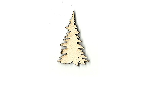 Tree Laser Cut Out Unfinished Wood Shape Craft Supply TRE56