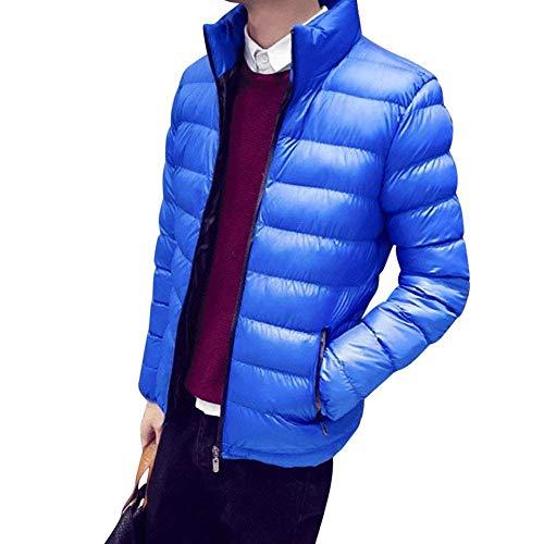 Veste Pour Manteau Duvet Homme Blau Parka Chaud Único Manteaux Décontractée Hiver Épais En Matelassée aarBxqg