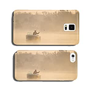 wedkarzna on a boat catching fish in the morning cell phone cover case iPhone6