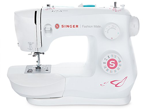 SINGER Fashion Mate 3333 Free-Arm Sewing Machine including 23Built-In Stitches Fully Built-in 4-step Buttonhole, Automatic Needle Threader, LED Light, perfect for sewing all types of fabrics with ease Buttonhole Fabric