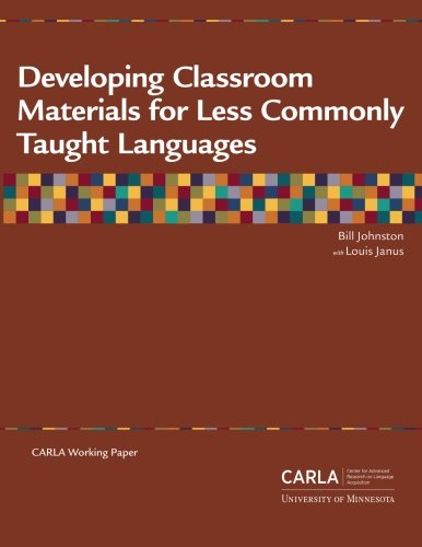 Download Developing Classroom Materials for Less Commonly Taught Languages ebook