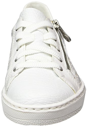 weiss bianco Basses Rieker Femme M7928 Blanc bronze Sneakers w4q8OfP
