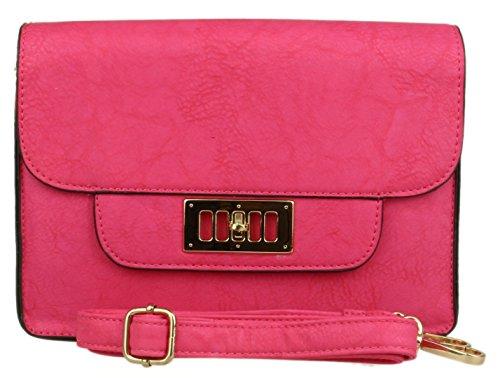 Para w 23 W Inches Fucsia Bolso Handbags 8 D 3 Girly 9 7 Cartera 18 H Estilo Cm Mujer n4IwOq