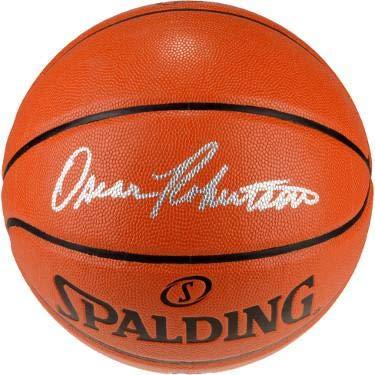 35688ce82 Autographed Oscar Robertson Ball - Spalding I O Cincinnati Royals)- ITP  Hologram - PSA