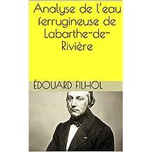 Analyse de l'eau ferrugineuse de Labarthe-de-Rivière (French Edition)