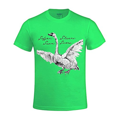 sufjan-stevens-seven-swans-printed-t-shirts-for-men-crew-neck-green