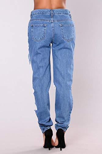 Jeans Mode Bleu Lessive Bleu La l'eau De Blue DAMENGXIANG Fminine XARORx