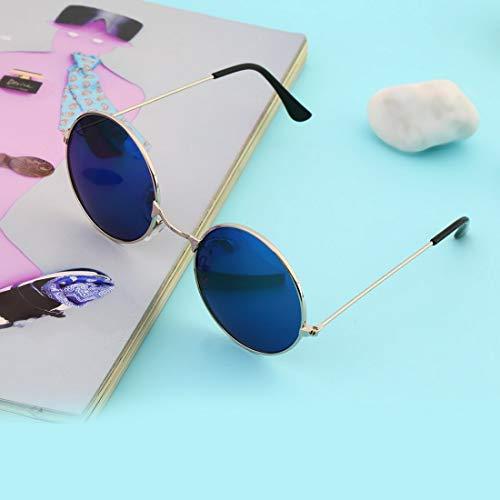 UV400 Cadre Miroir Soleil Vintage Verres Rond Coloré En Lunettes UV400 Femmes Qualité Protection Durable Objectif De Aluminium Hommes 7qOwTd