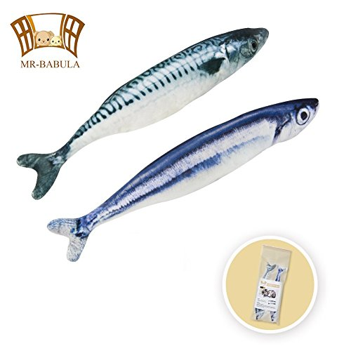 catnip toys, 3D Simulation Plush with replenish catnip grass carp&salmon toy,for cats/dogs(11.8in)