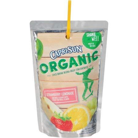 Capri Sun Organic Strawberry Lemonade Juice Drink 10-6 fl. oz. Pouches -2PACK
