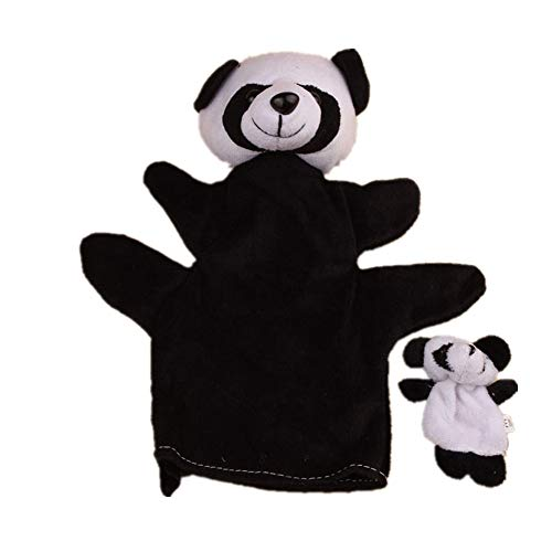 (Weiyun Educational Toys Hand Puppet - Cute Panda Finger Toys, Panda Model Soft Doll - Finger Puppet Cartoon Toy- Best Plush Toys Gifts for Baby Infant Kid, Set of 2(Without Retail Package))