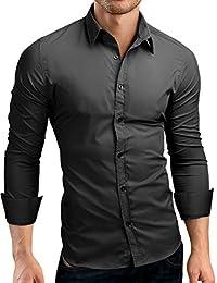 Grin&Bear Slim Fit men's stretch fabric shirt dress shirt, SH500