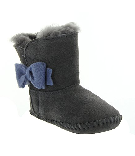 f56d361a362 UGG Kids Baby Girl's Cassie Bow (Infant/Toddler) Grey Boot SM ...