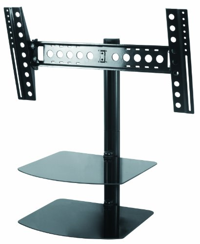 AVF ESL822B-T Tilt and Turn TV Mount with 2 AV Shelves, and Cable Management System for 37-Inch to 60-Inch TV - Black by AVF-EcoMount