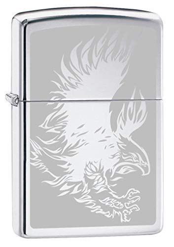 Zippo Lighter: Eagle with Talons, Engraved - High Polish Chrome 80235 ()