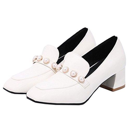 Quadrada Punta AicciAizzi Zapatos Mujer Blanco wzRqxxBY