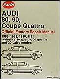 1988-1991 Audi 80 and 90 Bentley Repair Shop Manual