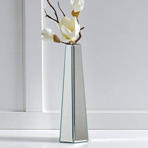 Torre & Tagus 902309B Hexagon Tower Beveled Mirror Panel Vase, Tall by Torre & Tagus