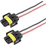 TOMALL H11 H8 880 Headlight Female Sockets Adapter for LED Xenon Headlight Fog Light Bulbs (Pack of 2)