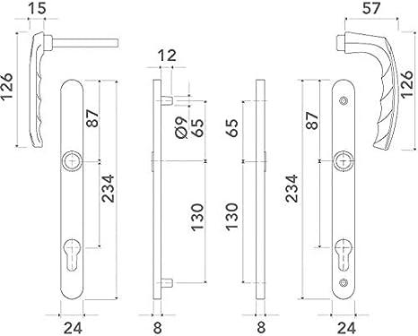 70 ITAR Fonction : Cl/é I Carr/é : 7 - Pour porte d/épaisseur : 58 /à 67 mm D/écor : Inox Ensemble de porte atlanta 113kh//300lmsgl//1530