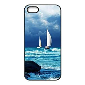 High Quality Phone Case For Apple Iphone 5 5S Cases -Tall sailing protective case-LiuWeiTing Store Case 15