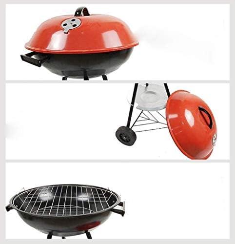 YDHWT Barbecue au Charbon portatif for Barbecue en Plein air et rondelle de contrôle Autour d'une Bouilloire BBQ Barbecue de Pique-Nique en Plein air