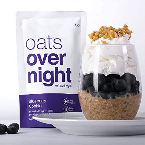 Oats Overnight Plant Based 3 Pack with BlenderBottle - Premium High-Protein, Low-Sugar, Gluten-Free (2.6oz per pack) by Oats Overnight (Image #4)
