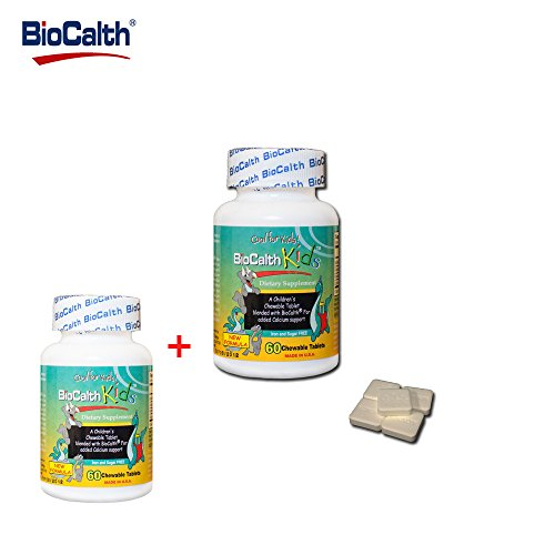 Cheap The ONLY Calcium with 3 U.S. Patents——BioCalth® Kids Chewable Calcium L-threonate for bone and joint health 60 Counts/bottle (Check the 【Special offers and product promotion】section for discount)