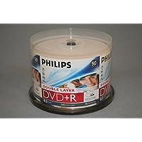 PHILIPS DVD+R 8.5G INKJET DUAL, LAYER,CAKE BOX, 50PKS, 600/CRN A2