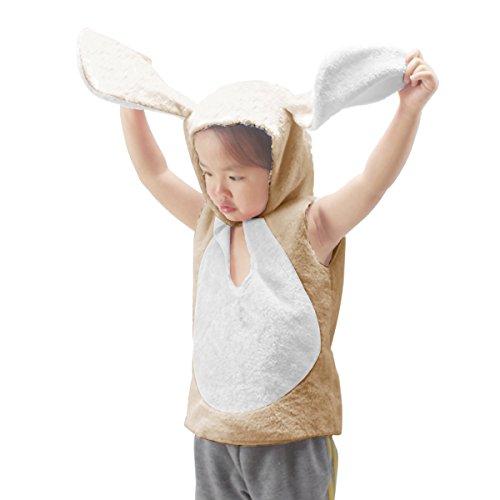 fedio Easter Kid's Plush Bunny Rabbit Costume Animal Dress up Trunk for Children (Khaki) (Animal Dress For Kids)