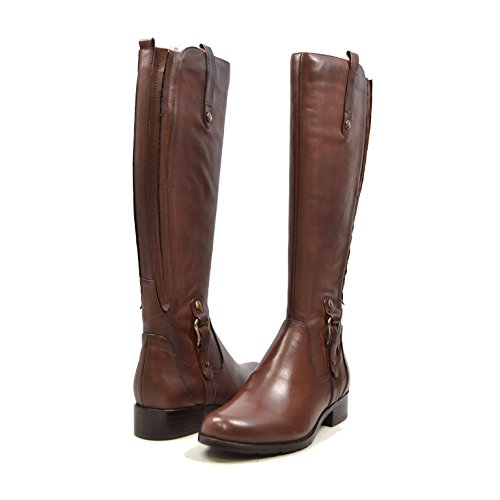 (SoleMani Venetian Extra Slim Calf Women's Brown Leather Boot 8.5)