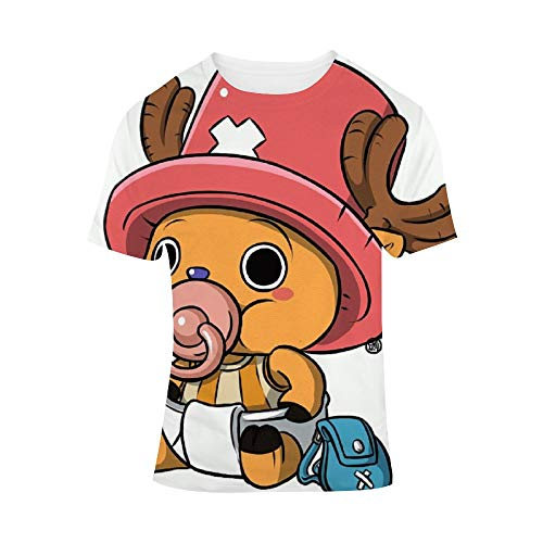 BSDHGSDH ONE Piece ワンーピス Unisex All-Over 3D Printed Graphic T-Shirts Short Sleeve Tees Men's Assorted V-Neck T-Shirts Ultra Soft Cotton T-Shirt Tony Tony Chopper XXXL